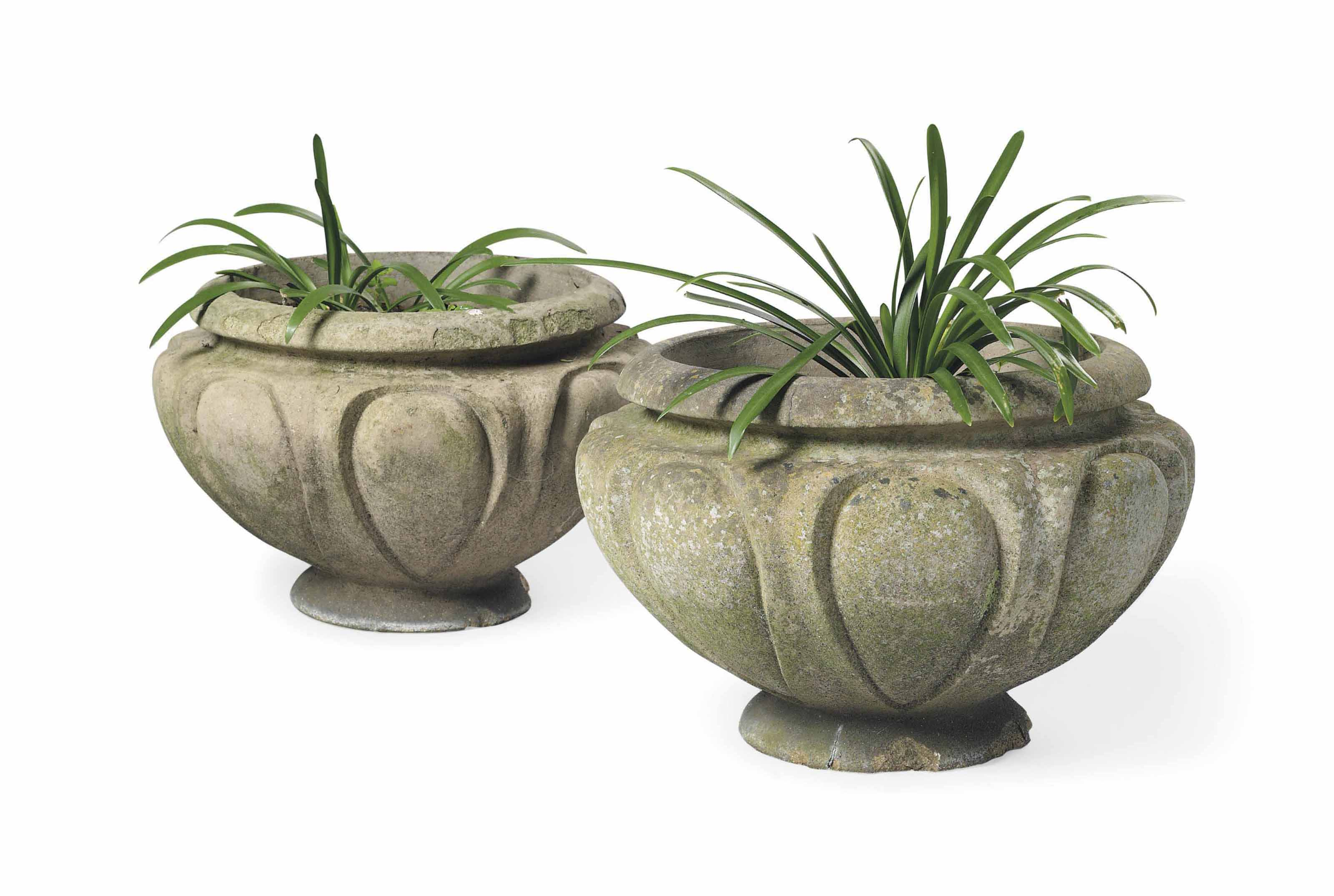 A PAIR OF COMPTON POTTERY TERRACOTTA 'LEIX' POTS
