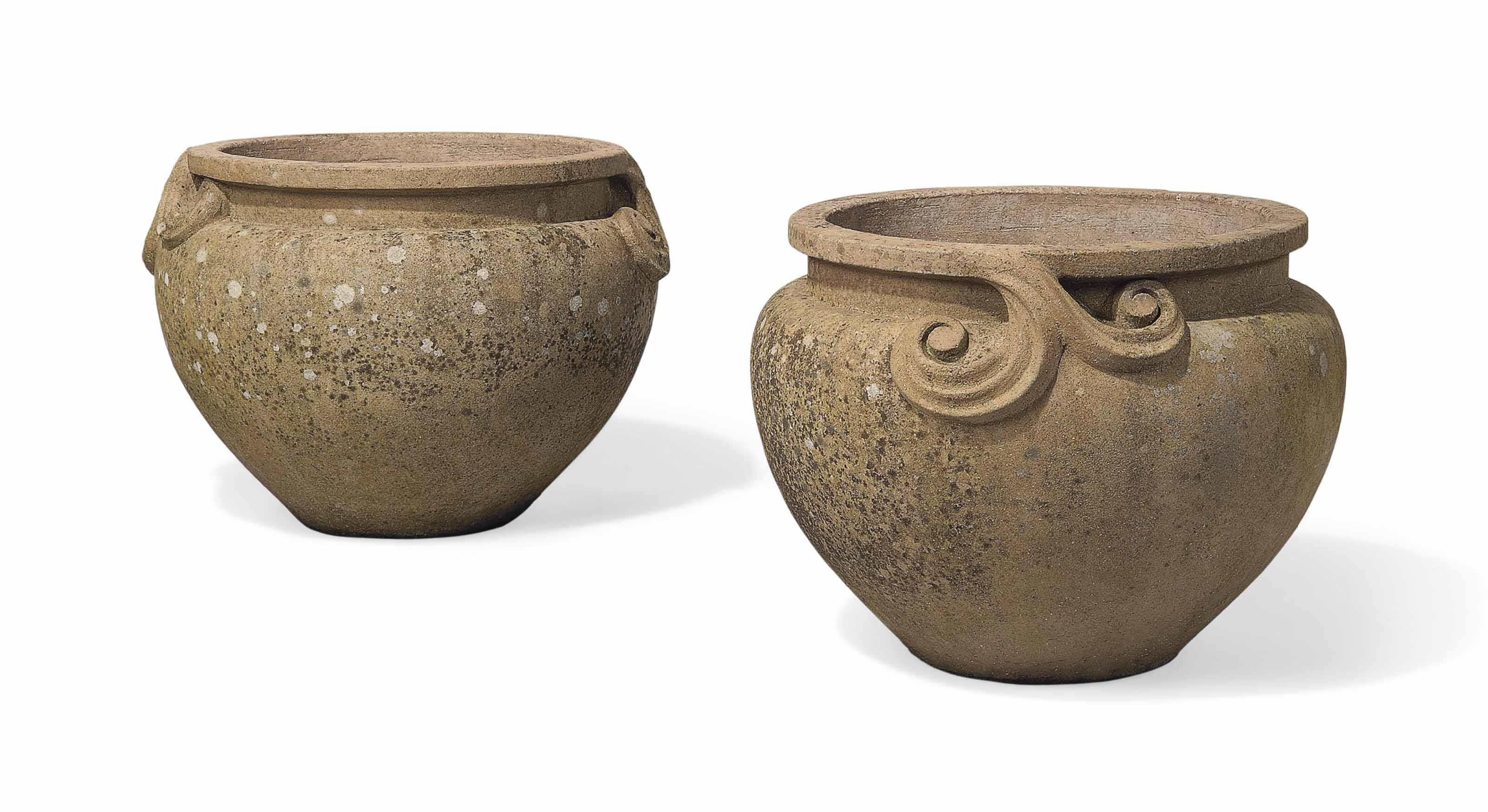 A PAIR OF TERRACOTTA POTS