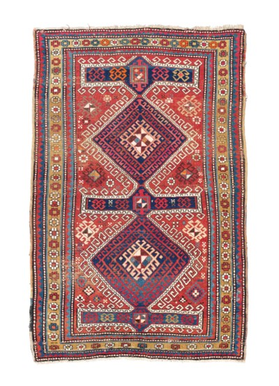 An unusual Kazak rug