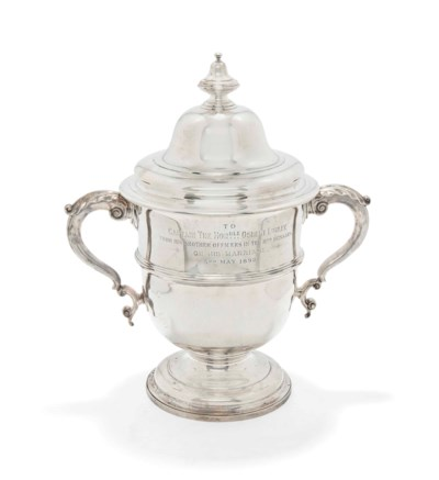 A LARGE VICTORIAN SILVER TROPH