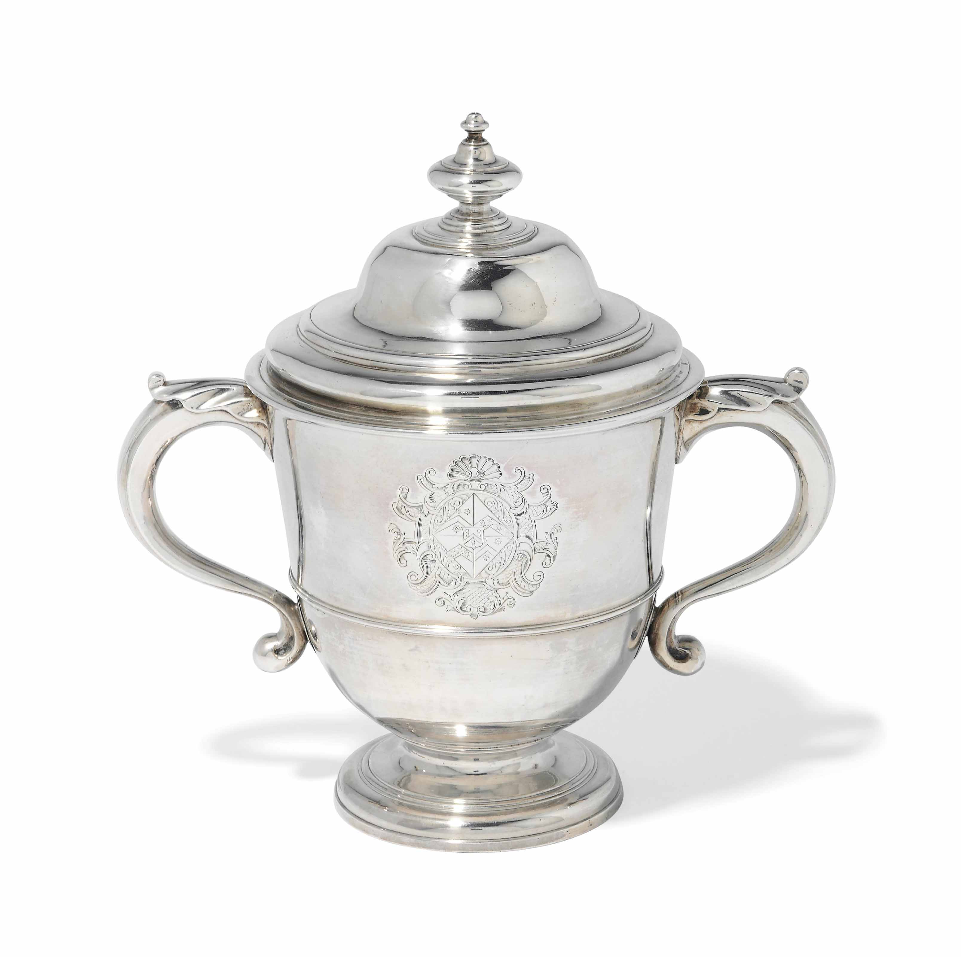 A GEORGE I SILVER CUP AND COVER
