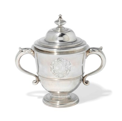 A GEORGE I SILVER CUP AND COVE