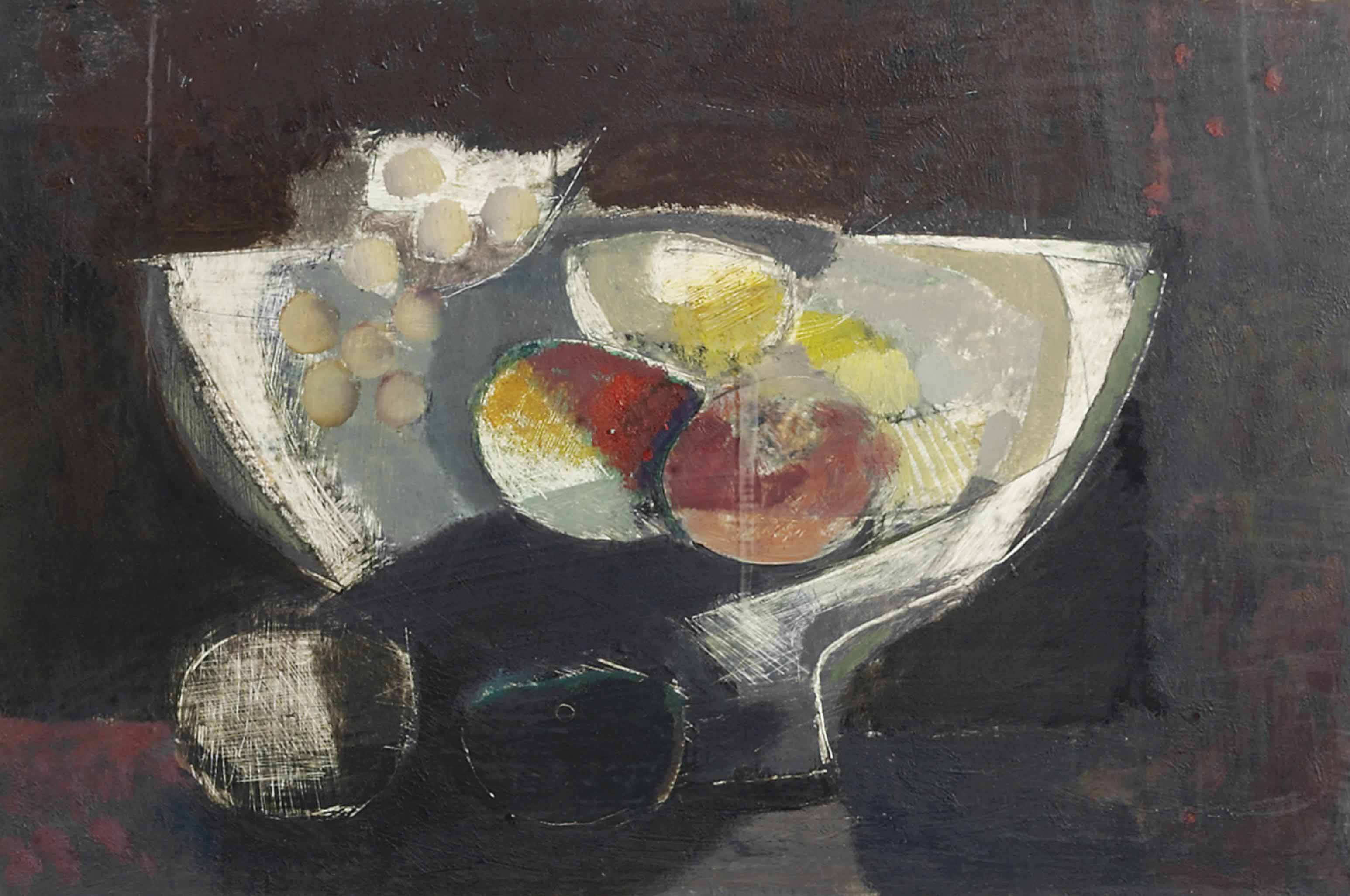 Still life on a dark background