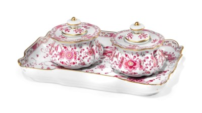 A MEISSEN DESK-SET