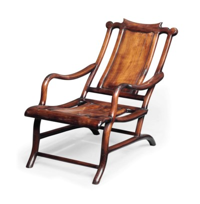 A CHINESE ROSEWOOD ARMCHAIR