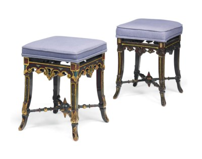 A MATCHED PAIR OF FRENCH PARCE