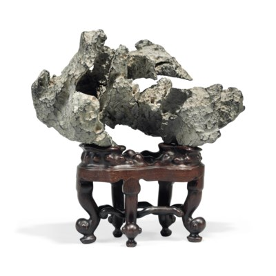 A CHINESE GREY SCHOLAR'S ROCK