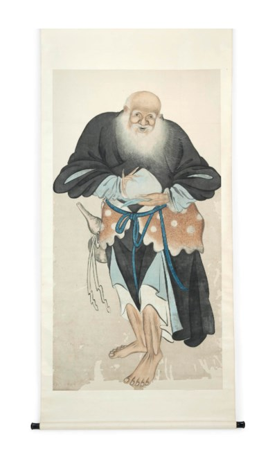 A CHINESE SCROLL PAINTING OF T