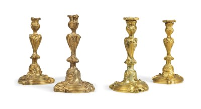 TWO PAIRS OF LOUIS XV-STYLE OR