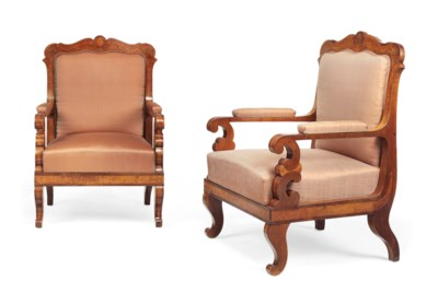 A PAIR OF AUSTRIAN FRUITWOOD,