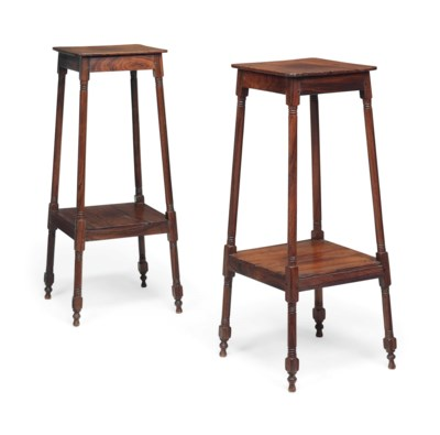 A PAIR OF COLONIAL PADOUK TWO-