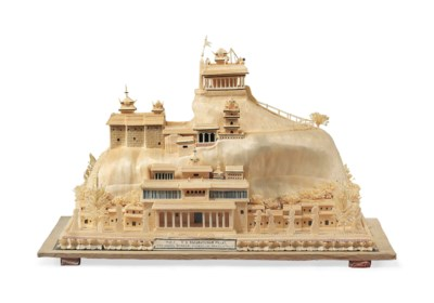 AN INDIAN BALSA WOOD MODEL OF