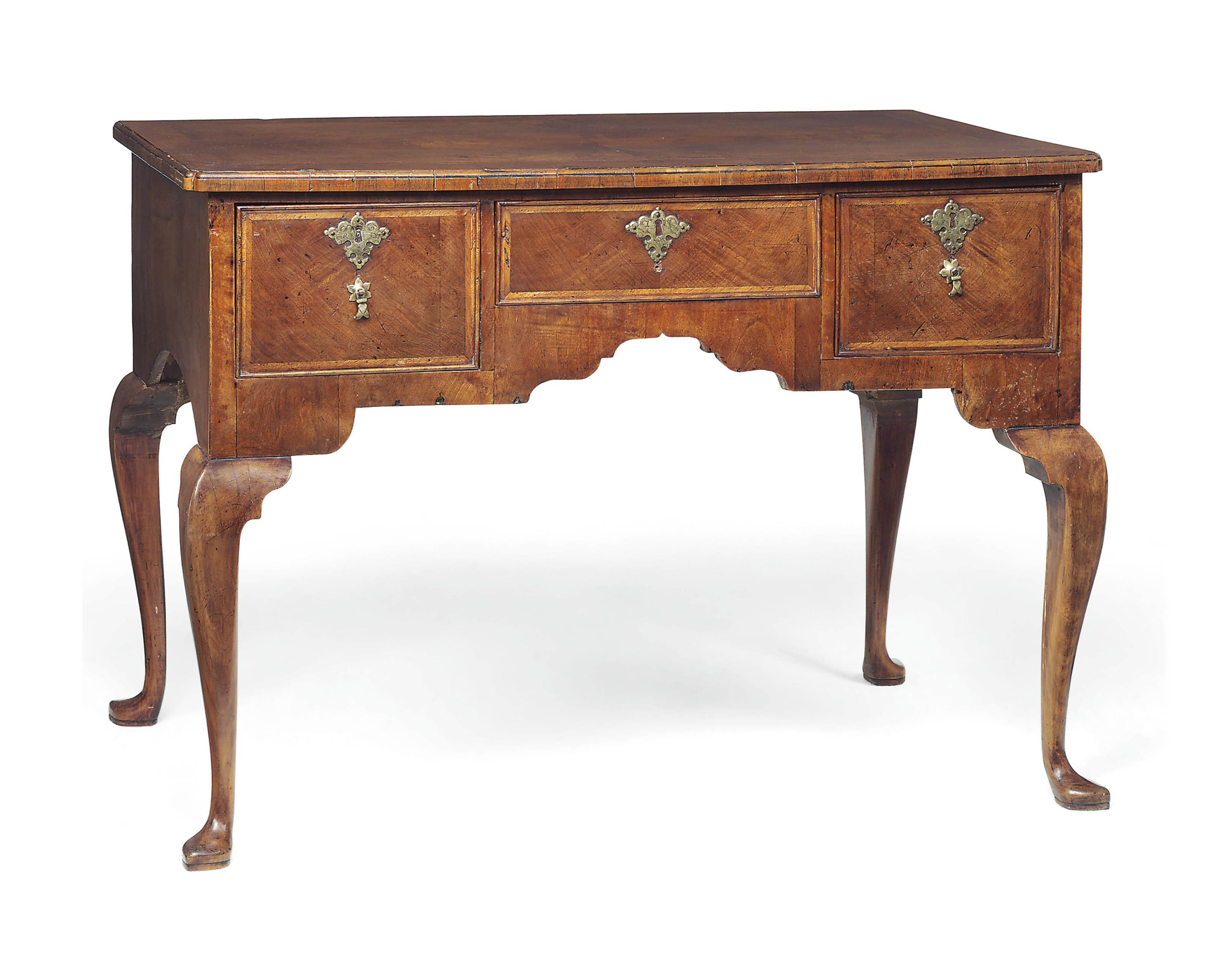 A GEORGE II WALNUT LOWBOY