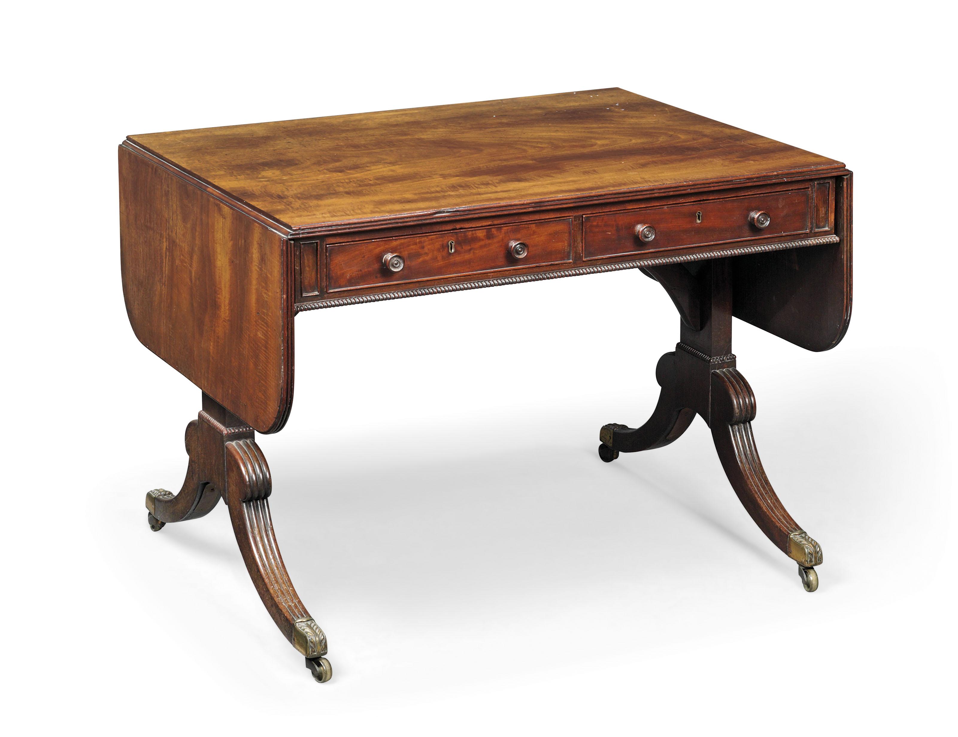 A regency mahogany sofa table circa 1820 attributed to gillows lot 10 watchthetrailerfo