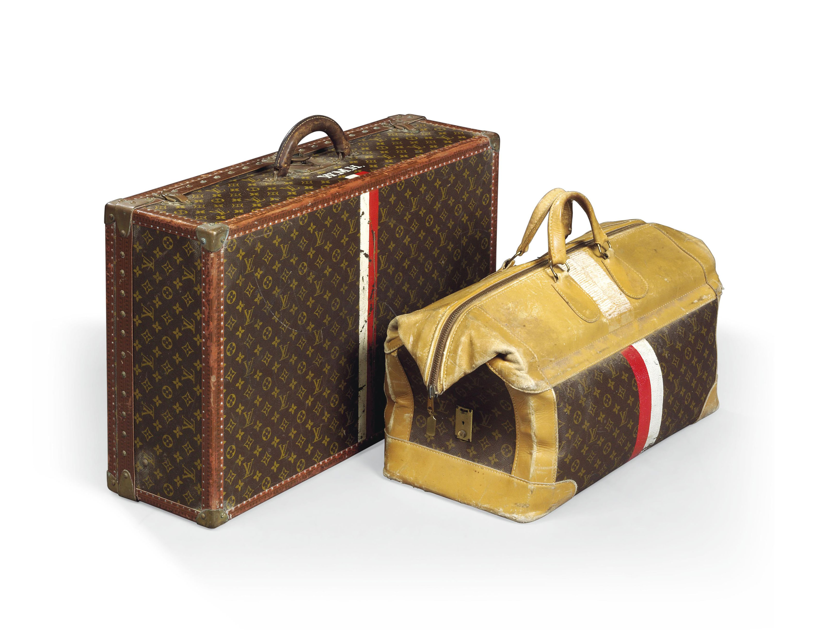A HARD-SIDED SUITCASE IN MONOGRAM CANVAS AND A SOFT TRAVEL BAG IN MONOGRAM  CANVAS ccafc4148901e