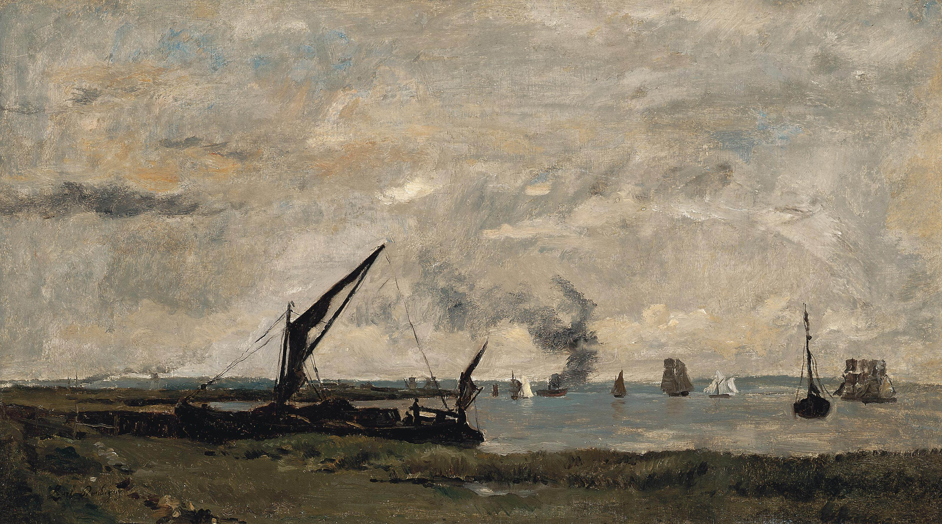 Boats and barges in the Thames Estuary