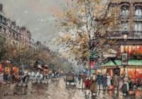The Café de la Paix, Boulevard des Capucines, Paris, 1900