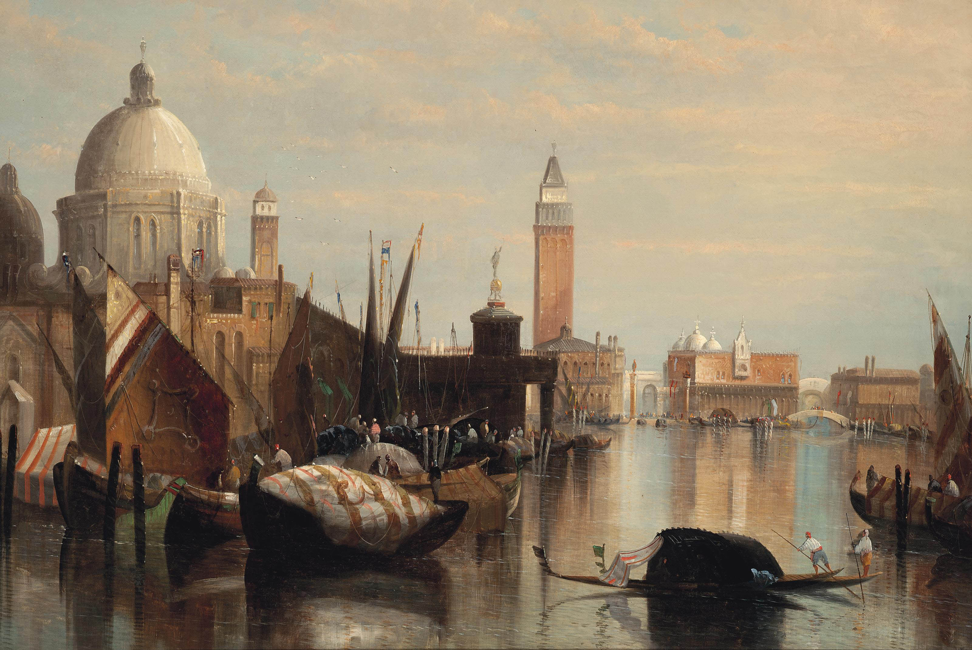 Vessels before the Customs House, Venice