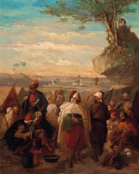 The Ottoman encampment at dusk