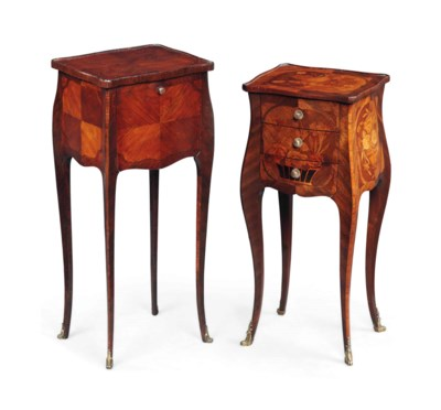 TWO FRENCH TABLES DE NUIT