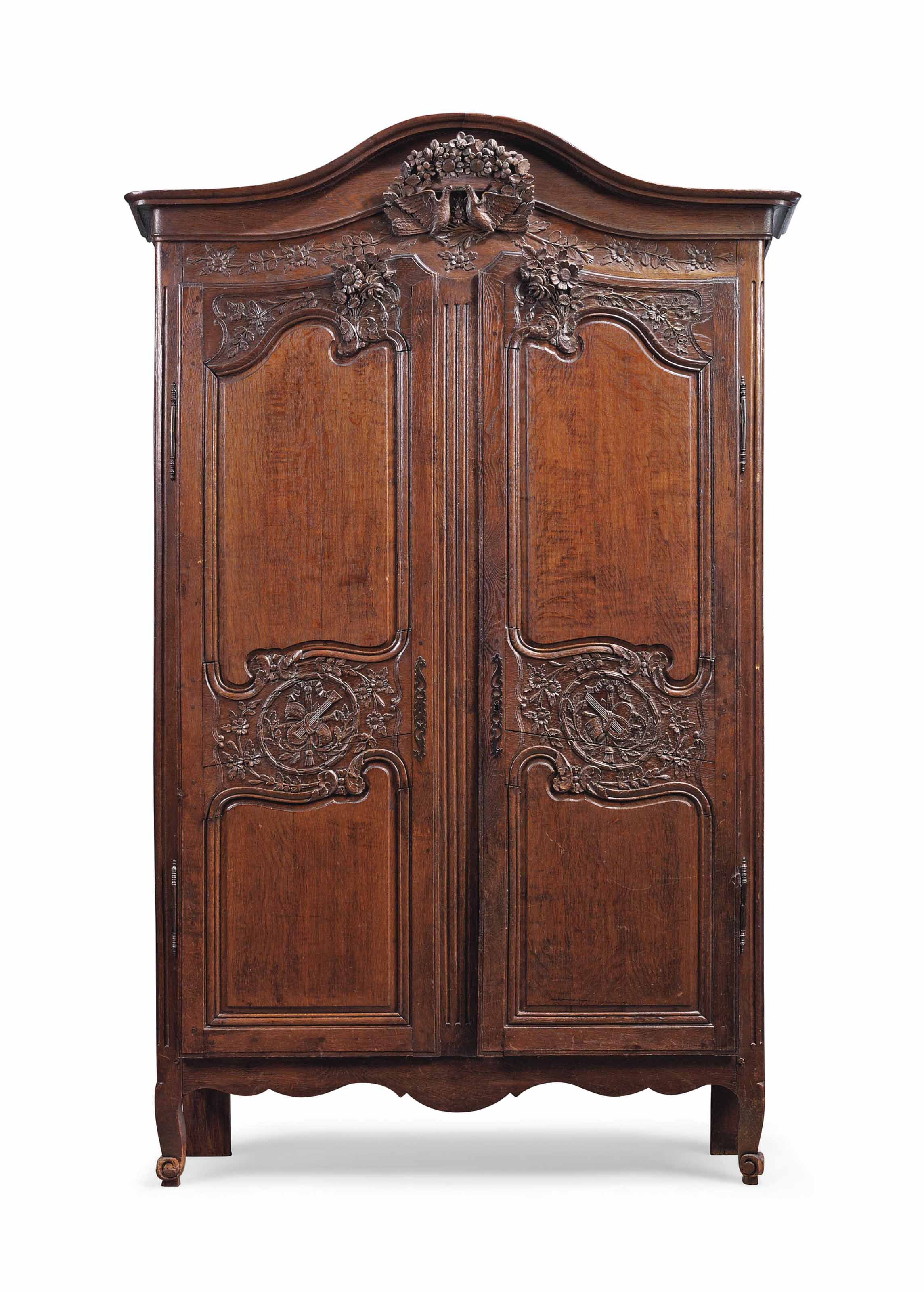 a louis xvi oak armoire de mariage normandy late 18th century reduced in depth christie 39 s. Black Bedroom Furniture Sets. Home Design Ideas