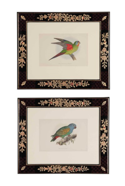 SIX HAND-COLOURED ENGRAVINGS F