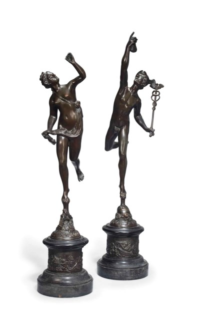 A PAIR OF ITALIAN FIGURES OF M