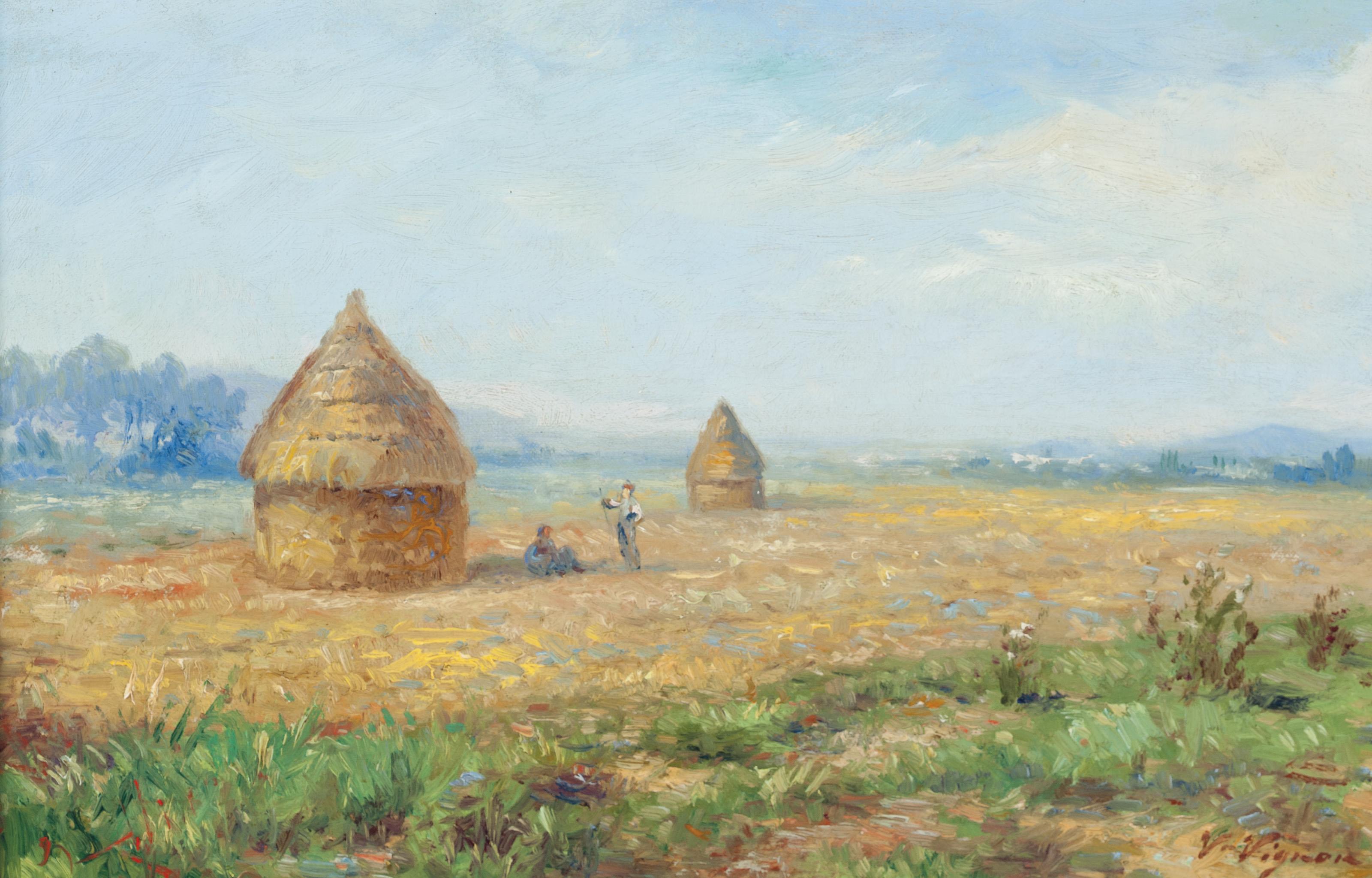 Champ de blé avec les mueles