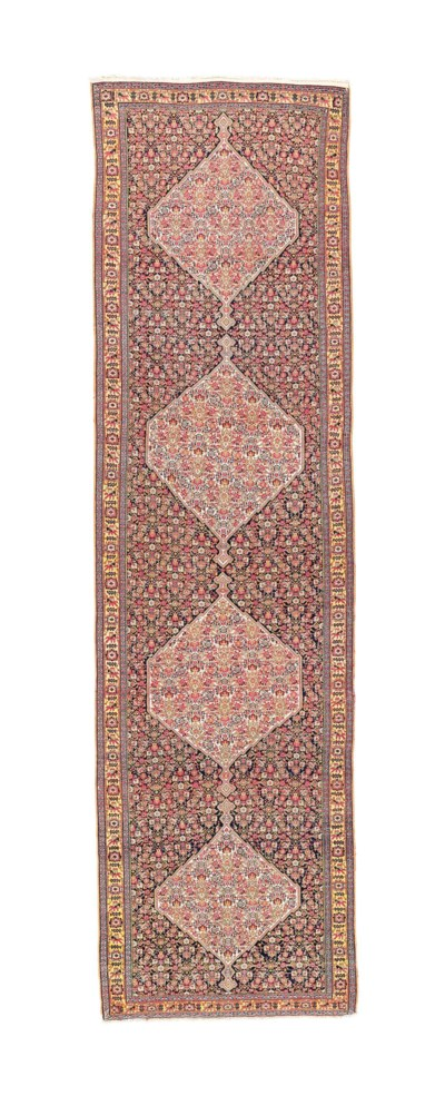 An antique fine Senneh runner