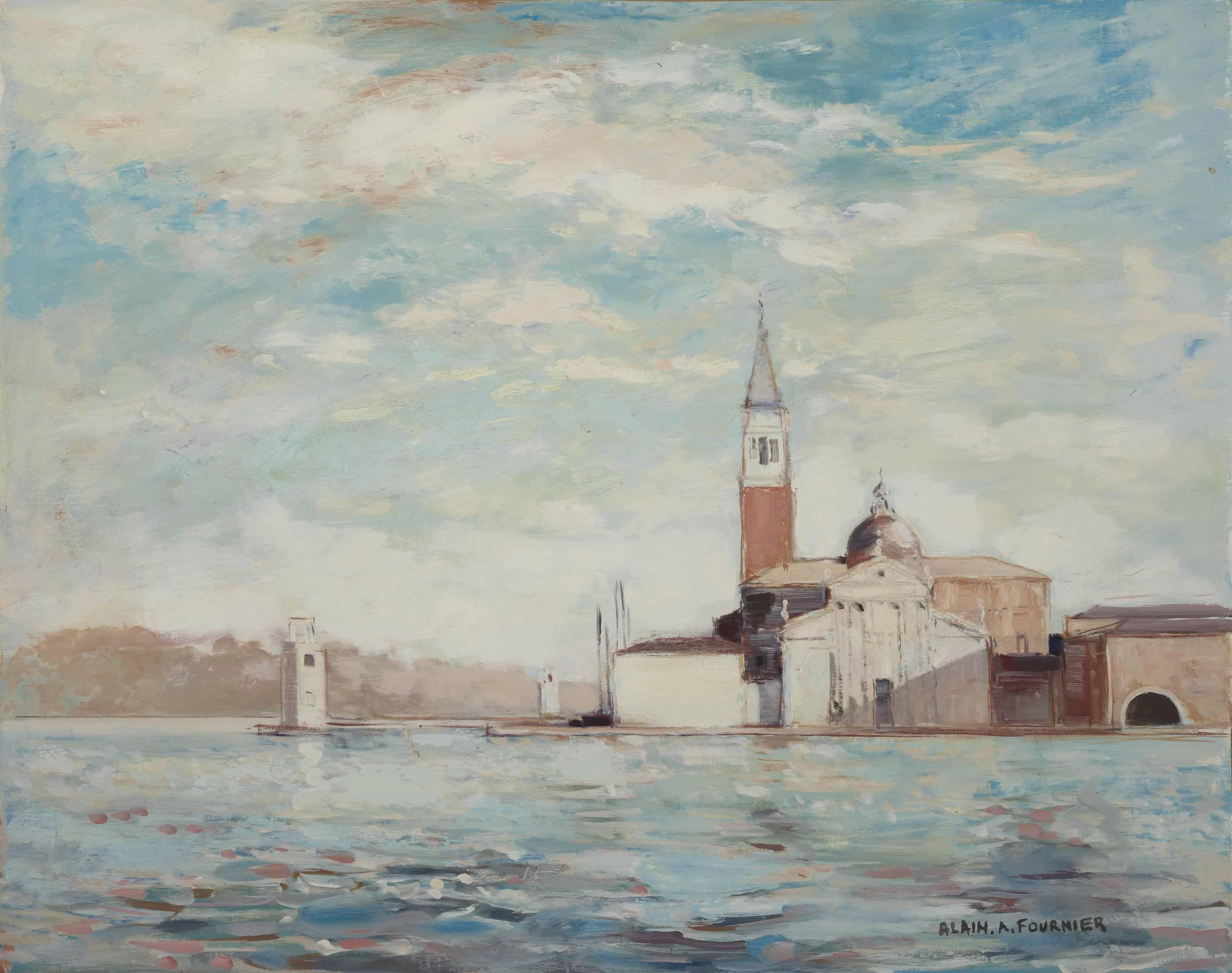 San Giorgio Maggiore, Venice; and Voiliers au port