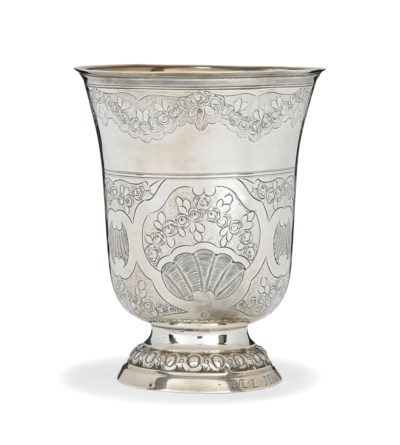 A FRENCH SILVER BEAKER