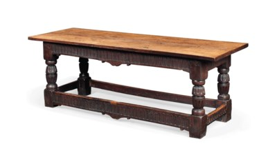 A CHARLES I OAK REFECTORY TABL