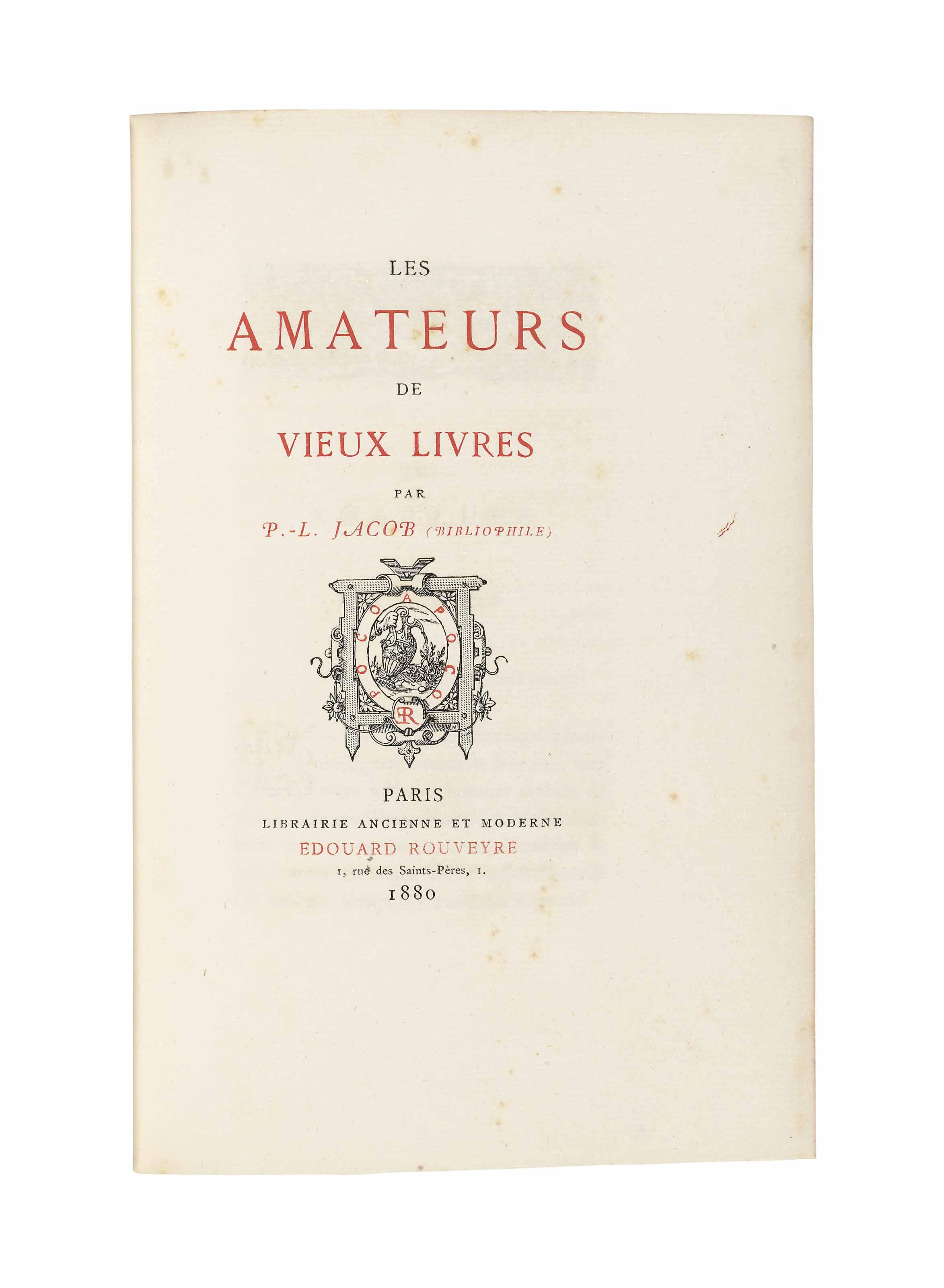 [LACROIX, Paul (1806-1884)]. L