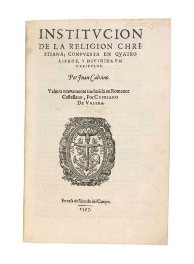 CALVIN, John (1509-1564). Inst