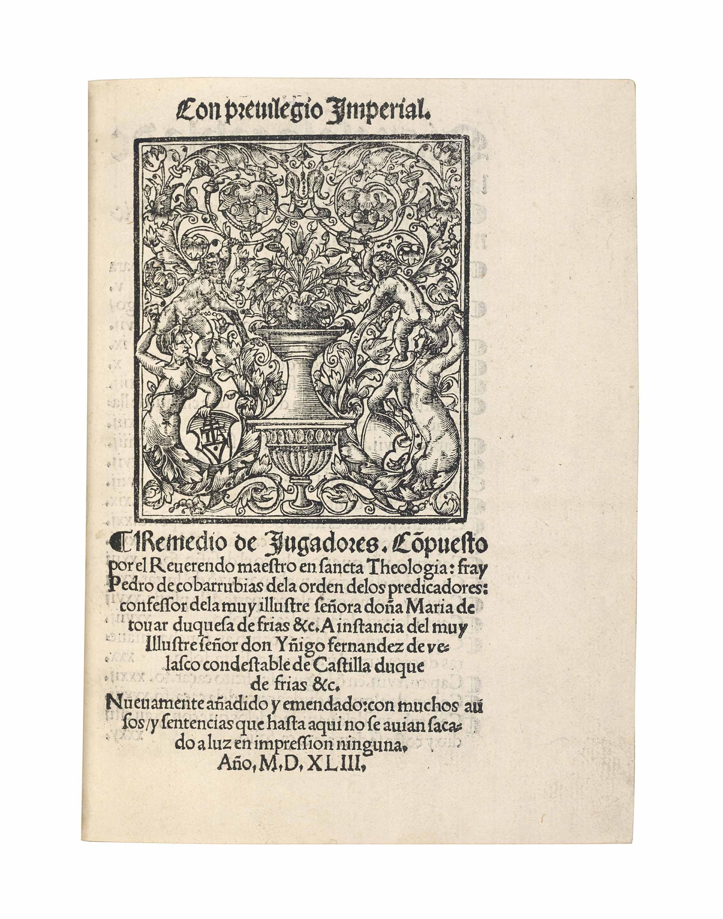 COVARRUBIAS, Pedro de (d.1530)
