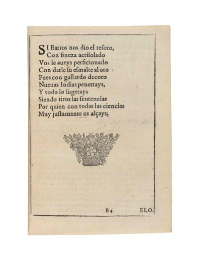 BARROS, Alonso de (1552-1604).