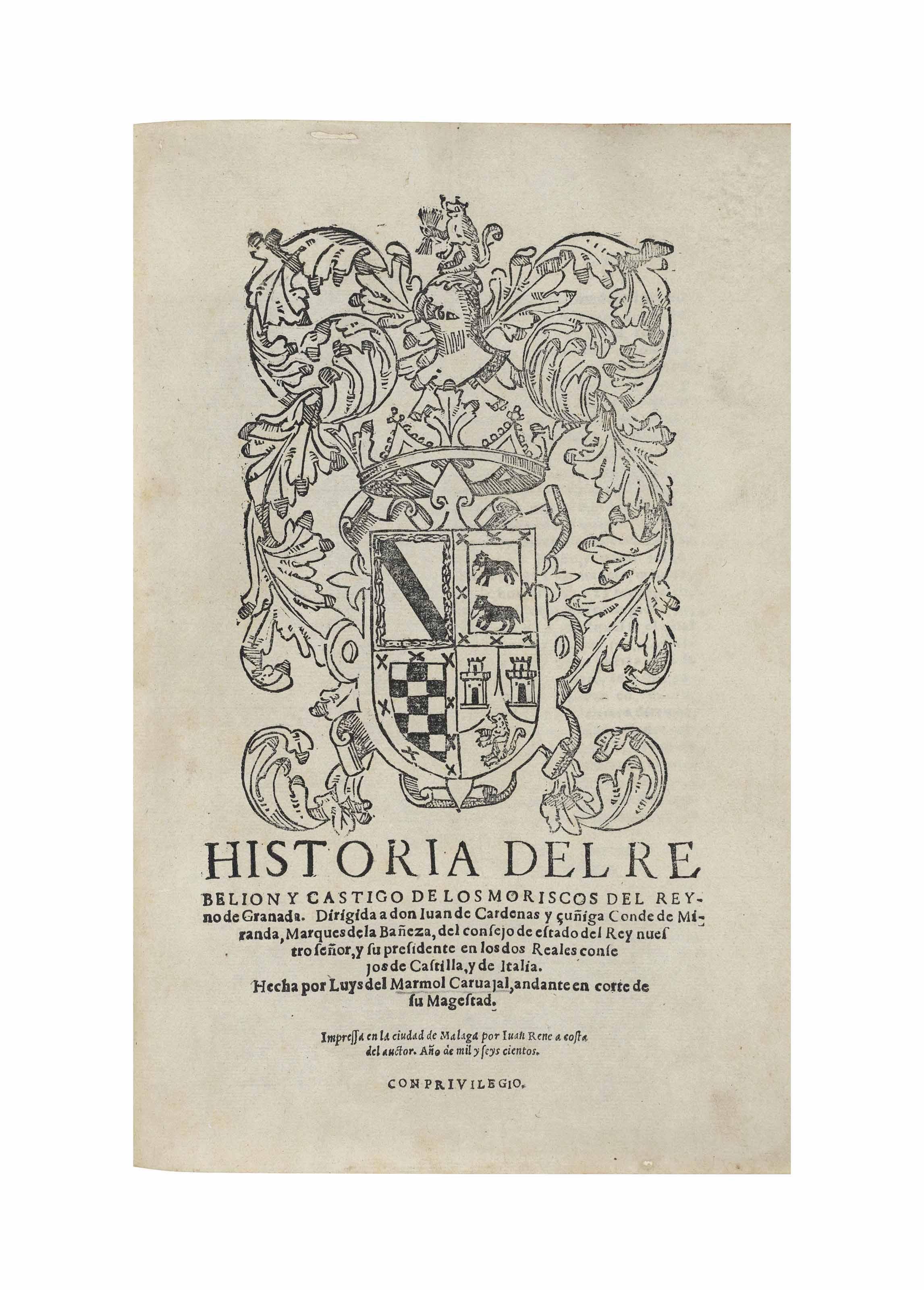 Marmol carvajal luis del historia del rebelion y castigo for Origen del marmol
