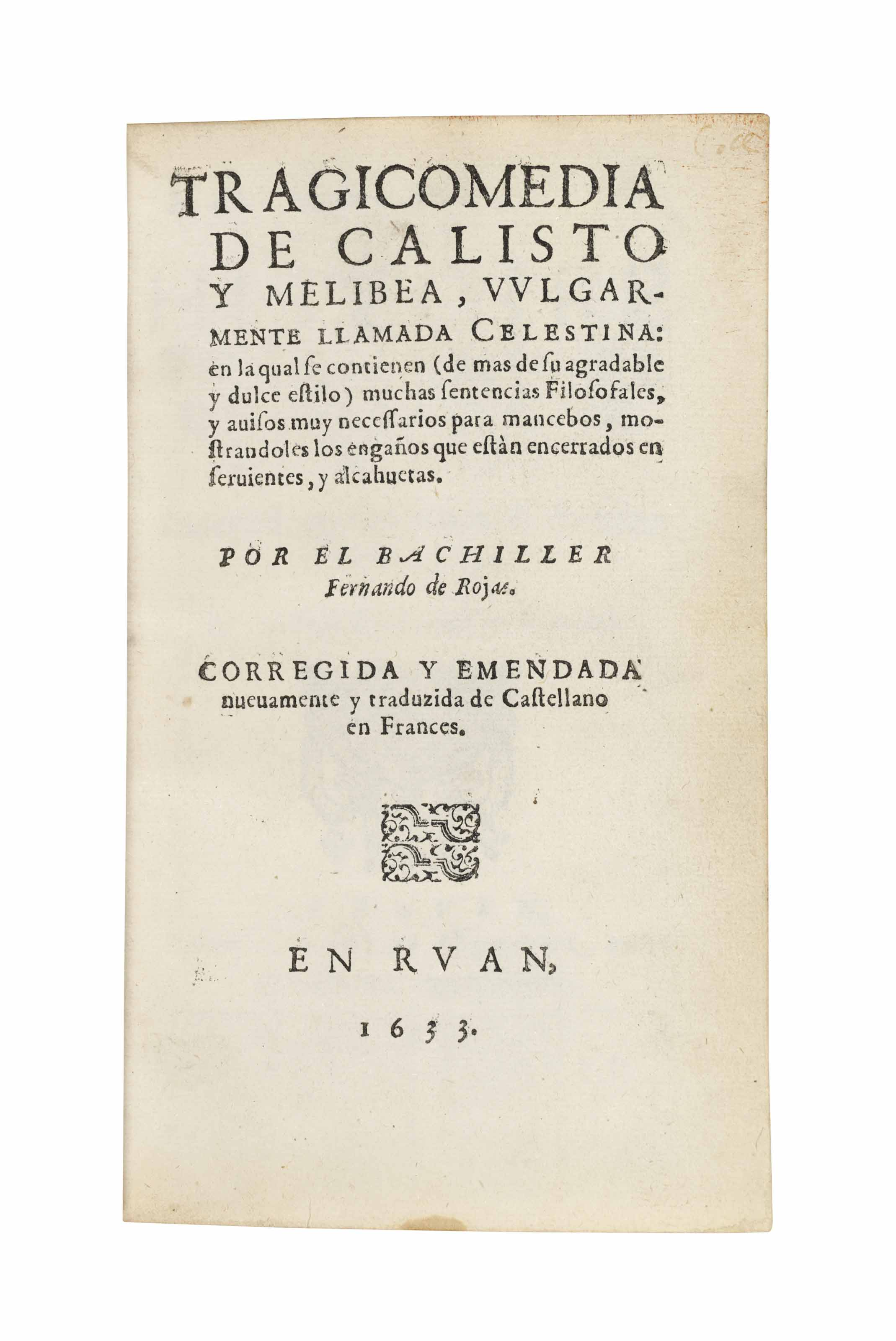 [ROJAS, Fernando de (c. 1465/7