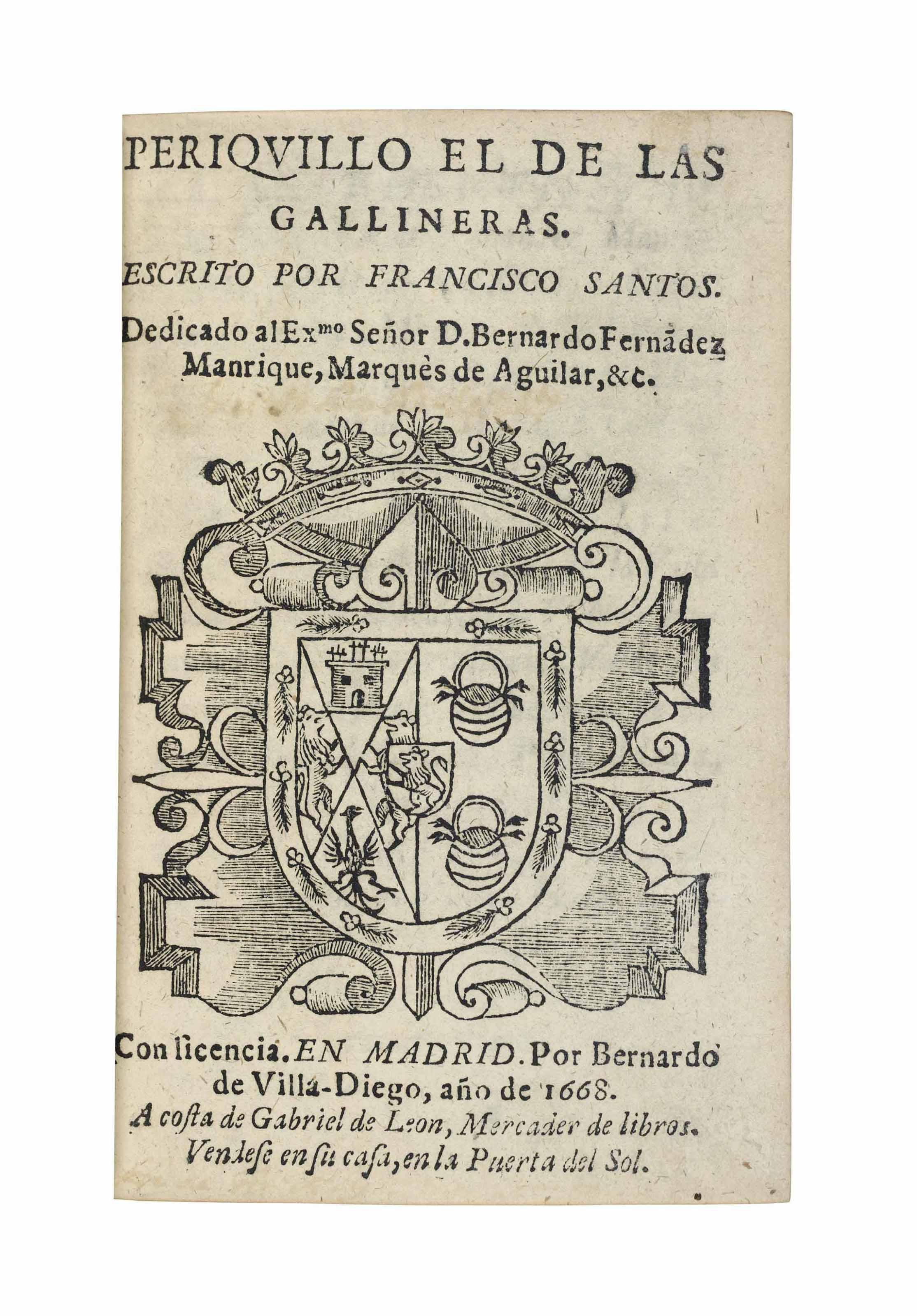 SANTOS, Francisco (1631-1700).