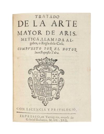TOLRA, Juan Baptista. Tratado