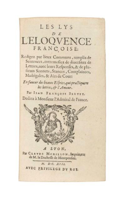 BERTET, Jean François. Les Lys