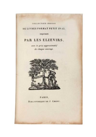 ELZEVIER -- Collection choisie