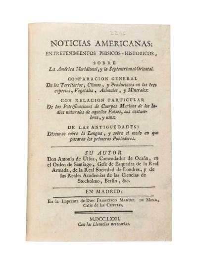 ULLOA, Antonio (1716-1795). No