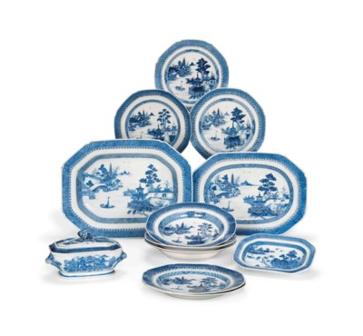 A CHINESE BLUE AND WHITE PART-