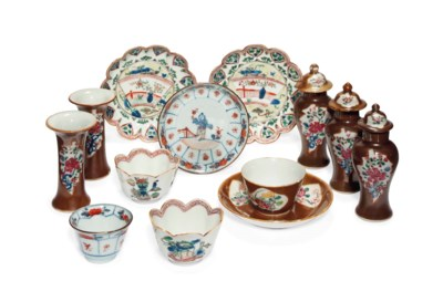 A GROUP OF EIGHT VARIOUS CHINE