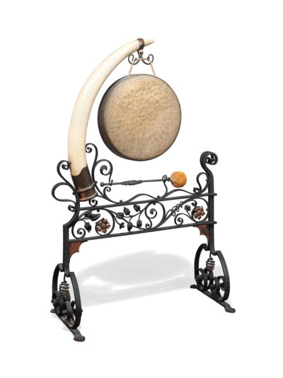 AN ENGLISH WROUGHT-IRON AND IV
