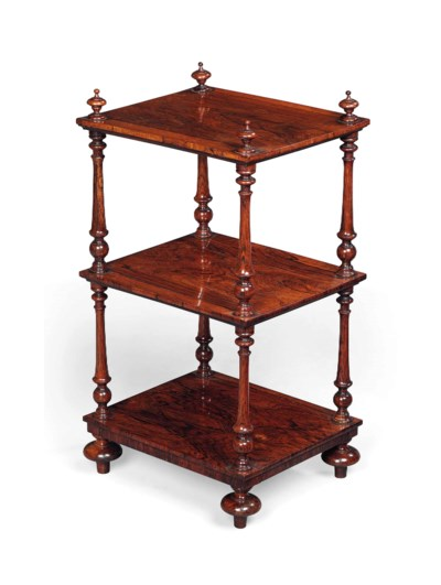AN EARLY VICTORIAN ROSEWOOD ET