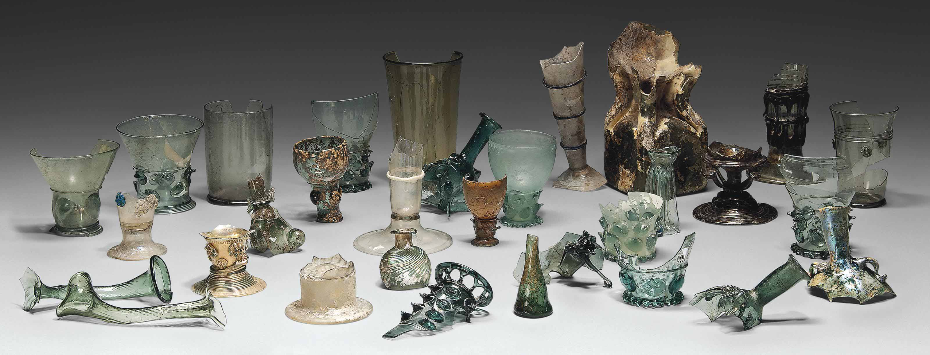 A STUDY COLLECTION OF EARLY GLASS FRAGMENTS