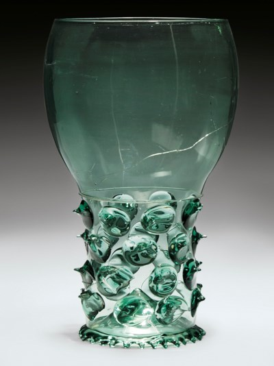 A MAMMOTH GLASS ROEMER