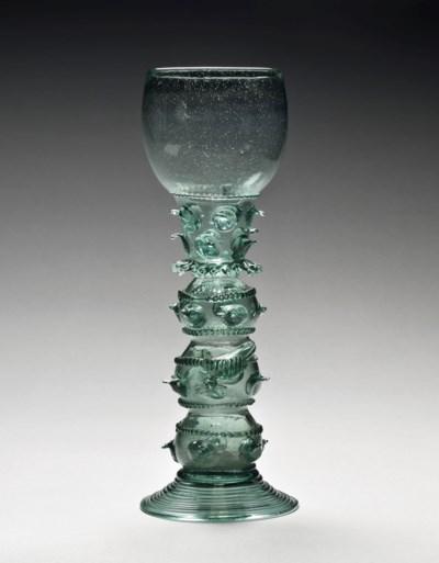 A GREEN GLASS ROEMER